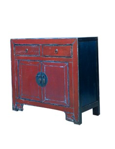 """Commode chinoise """"Liang"""" - ROUGE"""