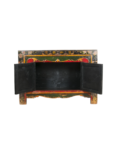 """Sideboard chinese painted """"Aiguo"""""""